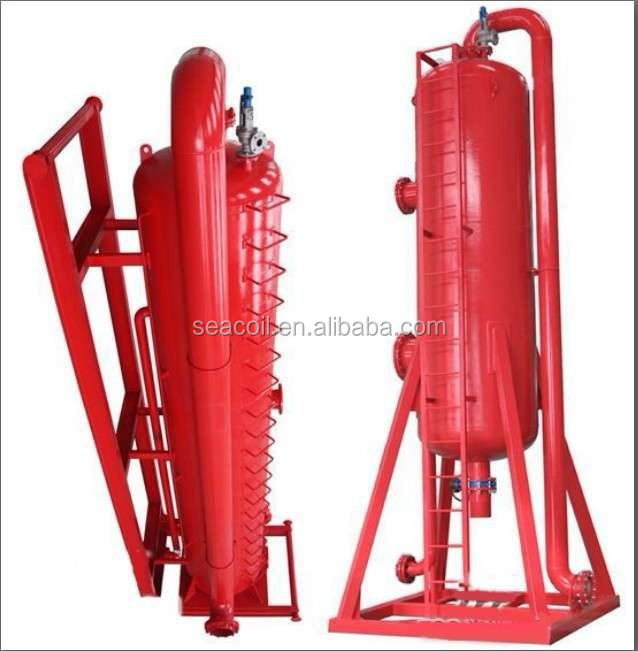 1200 mm Drilling solid fluid liquid-gas Separator /liquid gas mud separator used for oilfield