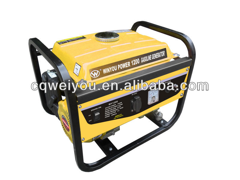 WY1200 samll Gasline Generator for home with kobal engine