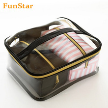 메이 컵 <span class=keywords><strong>화장품</strong></span> Case Bag Professional 야외 Waterproof PVC Storage 여행 백 Clear Set <span class=keywords><strong>3</strong></span> Tote 와 Handle Promotion