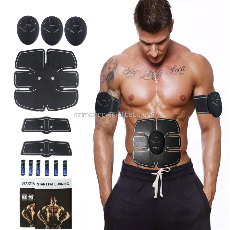 EMS Electronic Pulse Body Massager AB Abdominal Muscle Stimulation Toning Massager,ABS Toner Body Muscle Trainer for Weight Loss