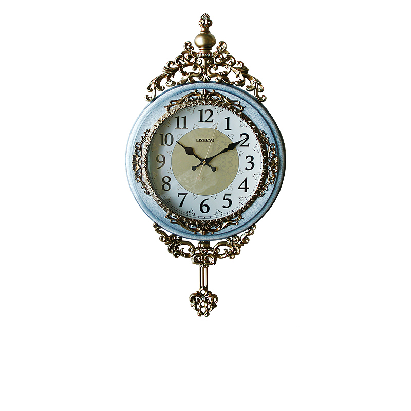 Vintage home decoration pieces Light Blue Home Decor Crafts Wall Clock Gift Items B8074-82
