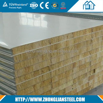 75 950 Rockwool Fire Retardant Wall Roofing Sandwich Panel