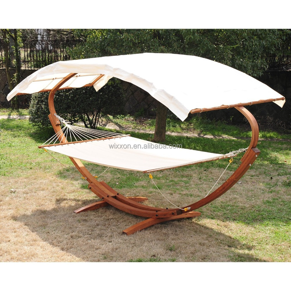 Wonderful Kd Design Swing Solid Sunshade Roof Wooden Stand Garden Canopy  DH54