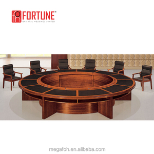 Modular round shape wood veneered large board meeting conference table