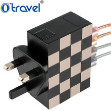 Mobile accessories office home travel use lcd universal charger multiple devices 5V adapter
