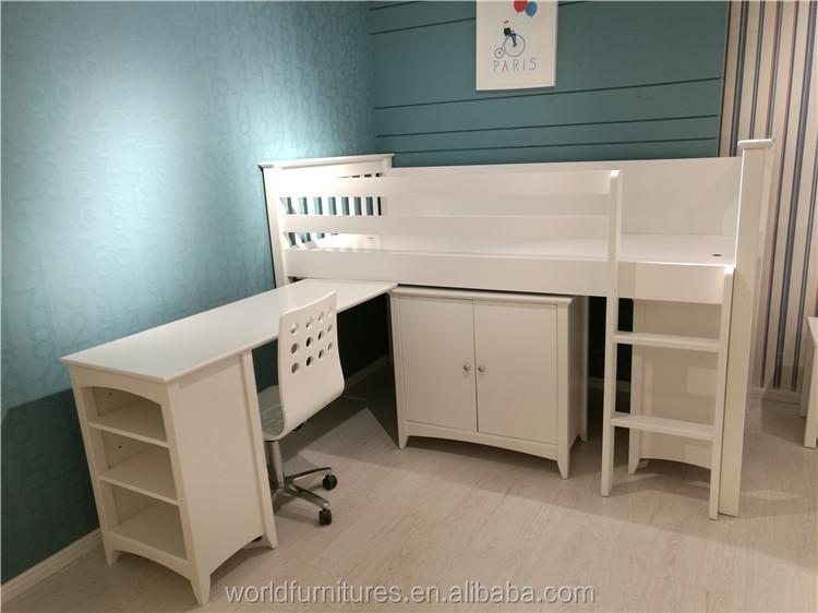 los nios litera cama doble con armario y escritorio