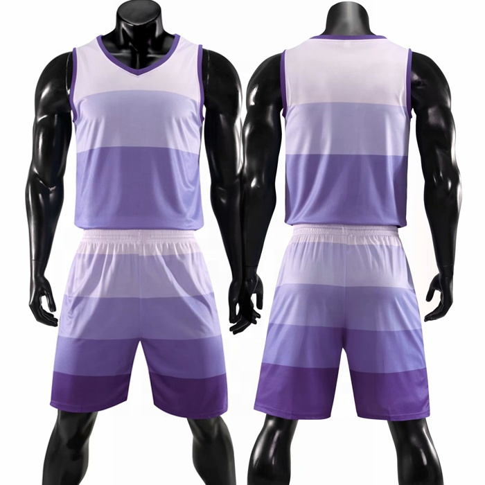 Hot sale basketball jersey heat transfer printing purple color basketball uniform cheap basketball top shirt фото