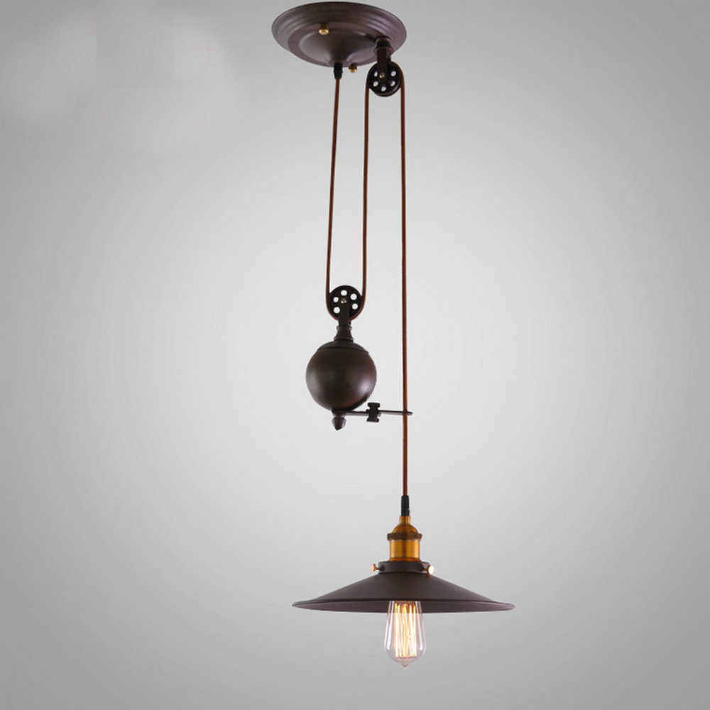 Industrial Pulley Light Fixture: Popular Pulley Pendant Light-Buy Cheap Pulley Pendant