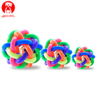 Dog Puppy Cat Pet Bell Sound Ball Rainbow Colorful Rubber plastic Fun Playing Toy funny