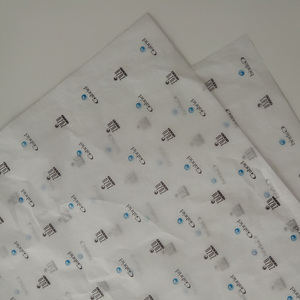 Qingdao OEM Logo Printed MG 17gsm Tissue Paper Shoe Clothing Gift Wrapping Paper