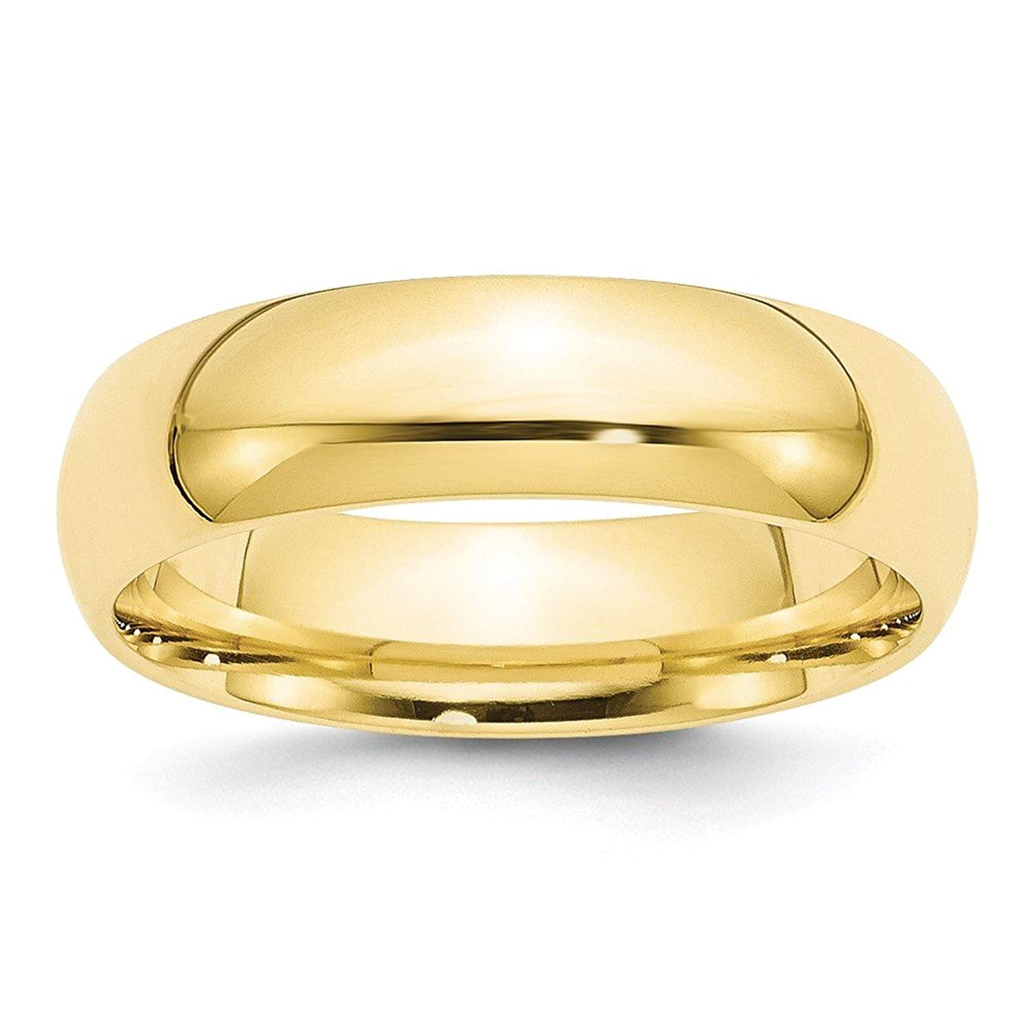 Best Designer Jewelry 10KY 6mm Standard Comfort Fit Band Size 13