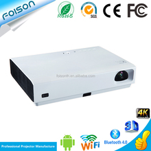 WIFI High Brigth 6000 Lumen Short Throw 3D strong visual impact Projector 100000:1 contrast ratio Quad core 1GB+8GB Projector