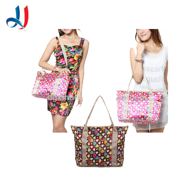 Fashion Korean style mummy shoulder bag multi functional waterproof cute hanging diaper baby bag
