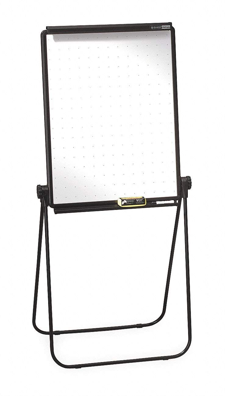 """Quartet Gloss-Finish Melamine Dry Erase Board, Easel Mounted, Portable/Carry, 34""""H x 26"""""""