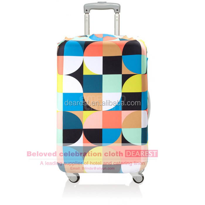 Promotional pandex Luggage cover Case Cover luggage trolley covers