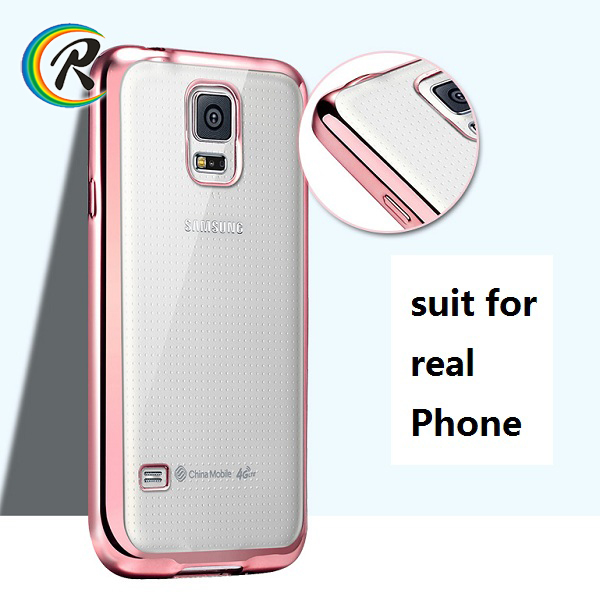 Phone accessories mobile s5 cover for Galaxy S4 wholesale cell phone plating bumper tpu case