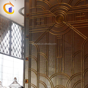modern type customized design metal stainless steel decorative screen mirror wall panel