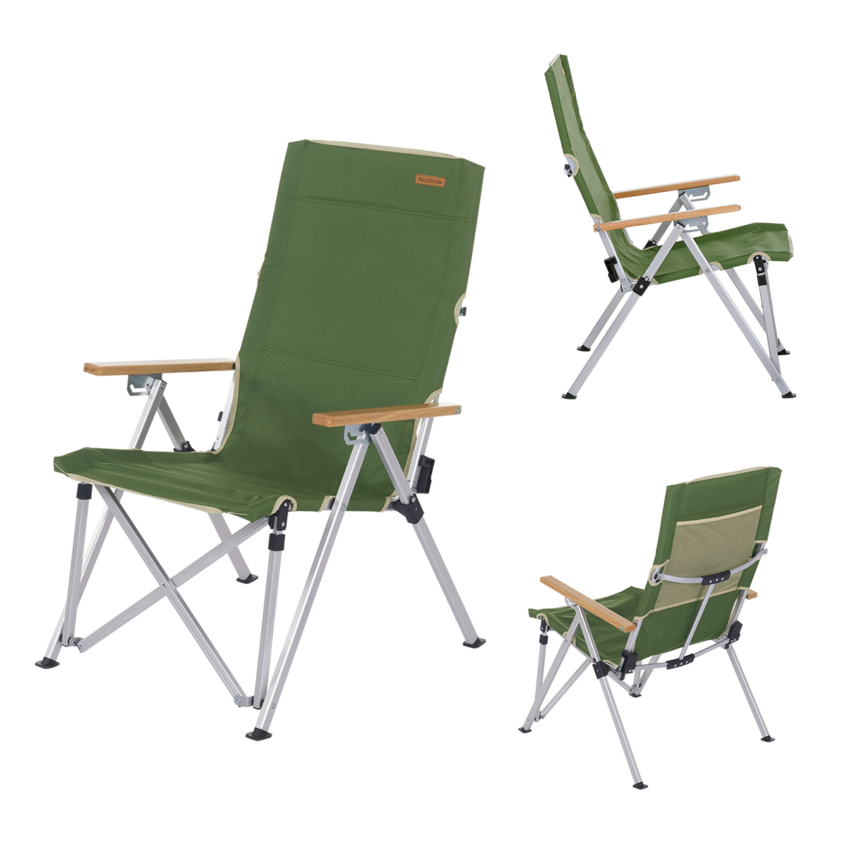 Naturehike 600d oxford cloth portable lightweight folding chaise lounge chair recliner for fishing beach camping picnic