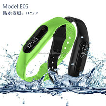 100% Original Touch Screen Smart Bracelet Fitness Tracker Wristband Smartband Pedometer Bluetooth 4.0 For Android 4.3 IOS 7.0