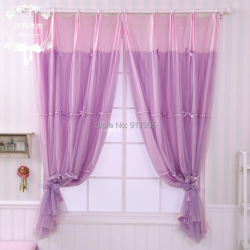Elegant Purple Bedroom Curtains Romantic Lilac Curtains