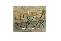 elegant wooden furniture outdoor restaurant cafe dining set