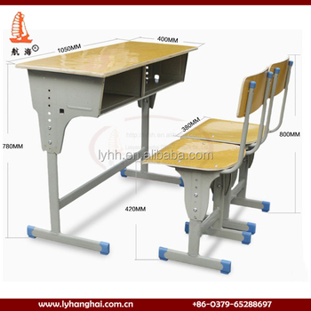 Furniture Dubai Standard Size Student Table School Desk Chair