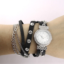 S16-0822 Fashion Lady Watches Diamond Leather Strap Quartz Movement Women Bracelet Watch Wholesales