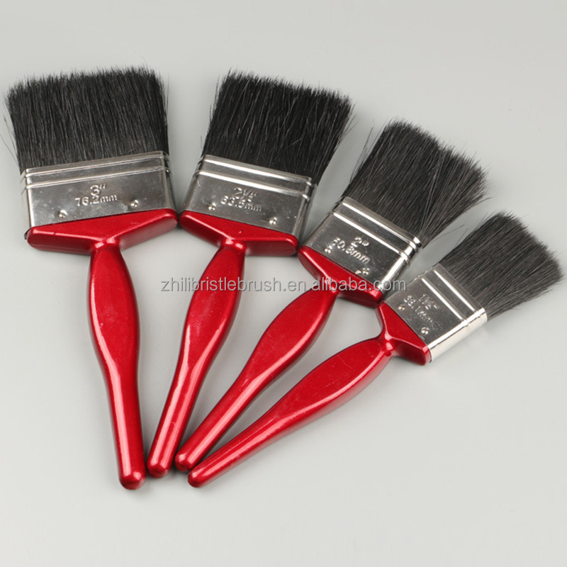 Chinese Wholesale Free Sample Premium Chalk Finish Round Paint Brush With Wooden Handle
