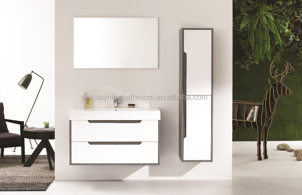 luxury espresso finishing modern bathroom vanity set(Aurora-1000)
