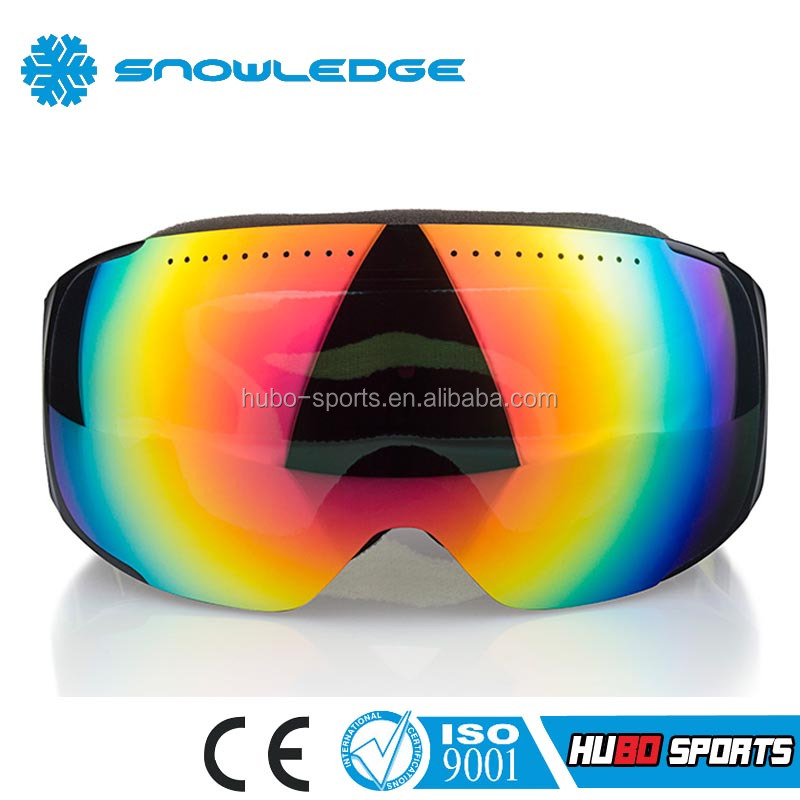 Good air vent interchangeable strap adjustable snowboarding ski custom goggle