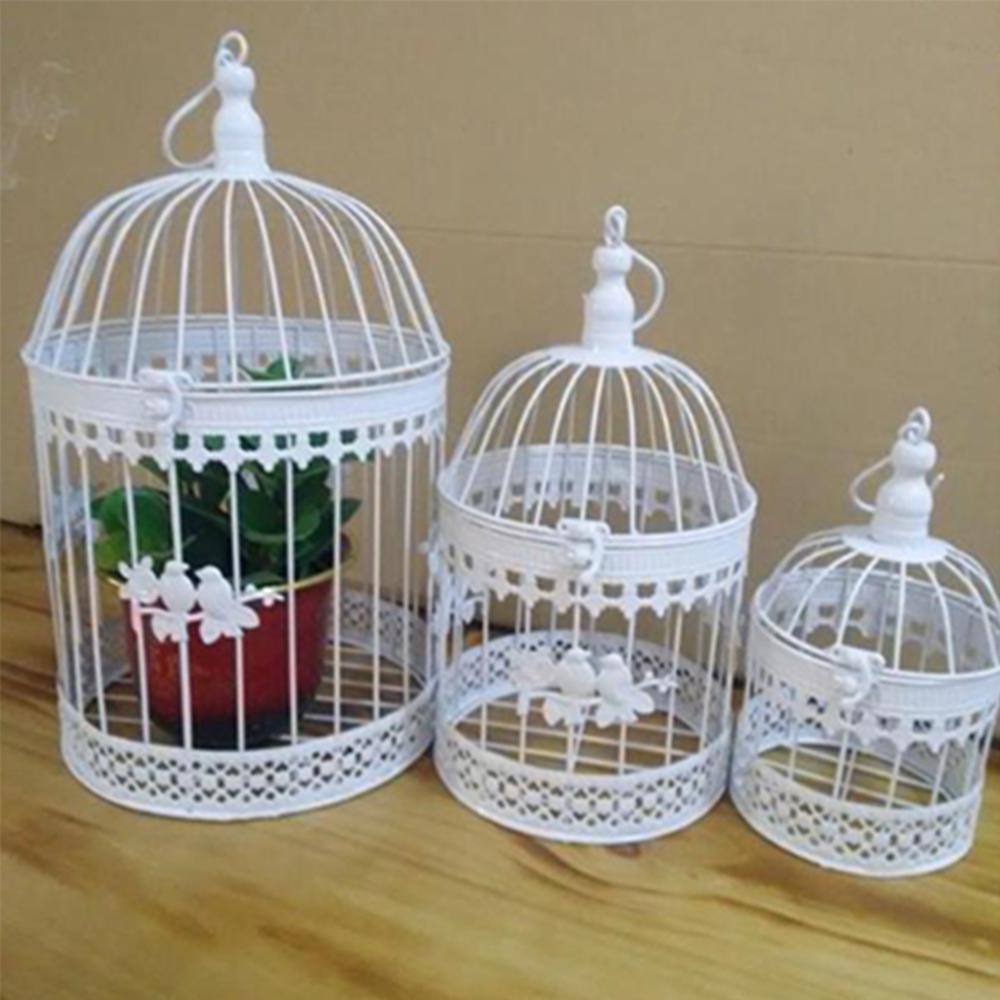 Fashion Antique Decorative Bird Cages Classic Iron Flower