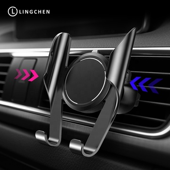 Lingchen Car Phone Holder Universal in Car Holder Stand Air Vent Mount Clip Cell Mobile Phone Holder 360 Rotation for iPhone XS