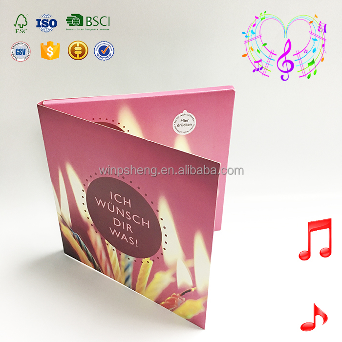 chinese manufacturing companies happy birthday voice recording greeting card