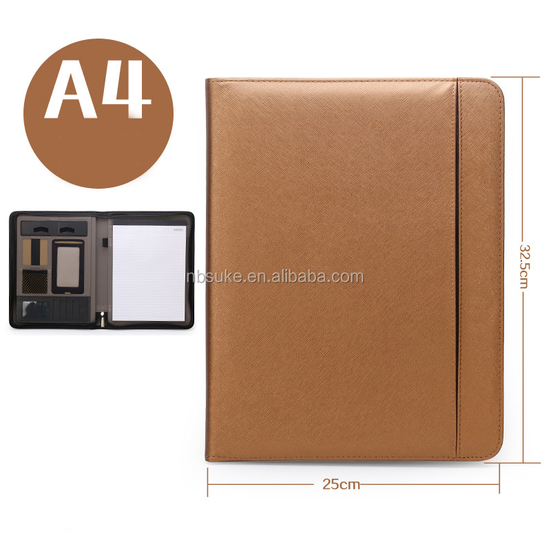 Lawyer Leather Business Briefcase wallet Document Holder File Organizer Portfolio  Leather Folder for Contract