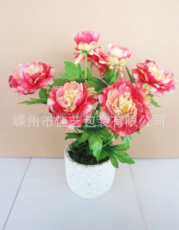 wholesale peony artificial flower silk artificial flower for table decoration