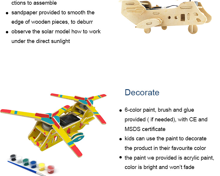 Kids Assembly Toys Wooden Solar Puzzle for Children