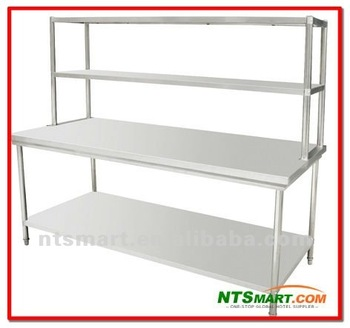 Stainless Steel Work Table With Top Shelf Buy Stainless Steel - Stainless steel work table with shelves