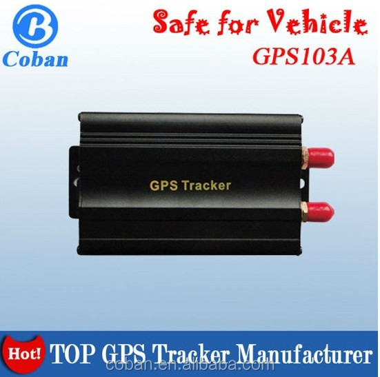 Made in china imei service GPS Tracker TK 103 with cut engine sos alarm and Andriod &IOS app