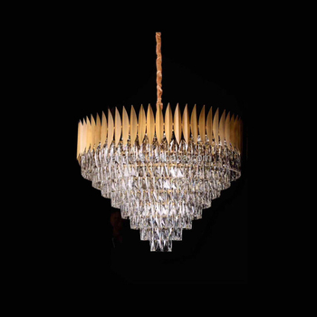 goldstahlwohnzimmer designer leuchter modern