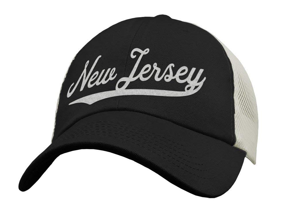 Get Quotations · State of New Jersey Trucker Hat Baseball Cap - Snapback  Mesh Low Profile Unstructured Sports - c70b5380c7c6
