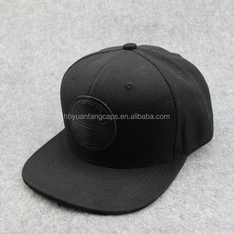 create black 6 panle hat <strong>custom</strong> design your own snapback hat