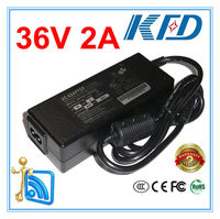 36V 2A AC power adapter 36v switch ac dc charger supply 36V 2A power supply adaptor