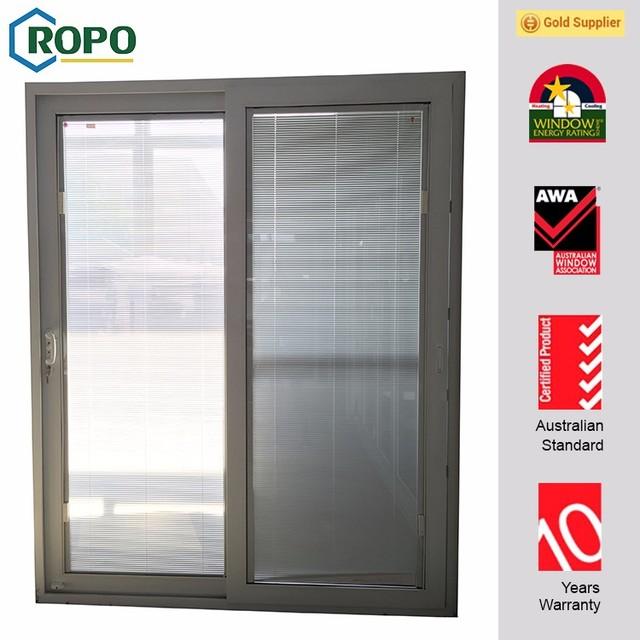 High Security Residential UPVC Glass Sliding Door