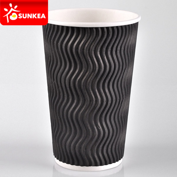 S wave ripple paper cups for pure color printing