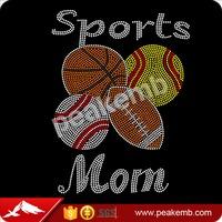 Basketball Baseball Softball Football combination Sports Mom Rhinestone Transfers
