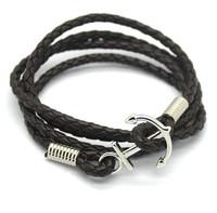Fashion Handmade Jewelry 925 Sterling Silver Anchor Bracelet