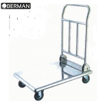 Stainless Steel Platform Folding Qatar Hand Trolley / Heavy Duty Flat Cart  / Rack Dolly With Handle - Buy Hand Trolley,Folding Hand Trolley,Qatar Hand