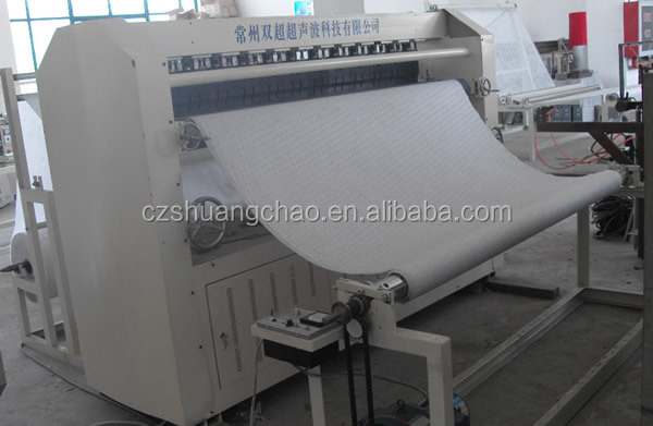 Ultrasonic quilting machine for bedding