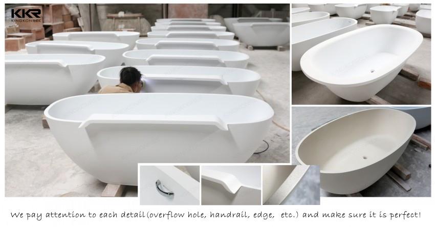 Kkr produttore antico vasche da bagno freestanding pietra resina