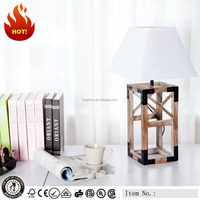 High quality portable luminaire wood metal bedroom table lamp